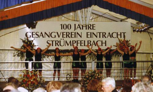 Auftritt bei der 100 Jahresfeier des Gesangvereins